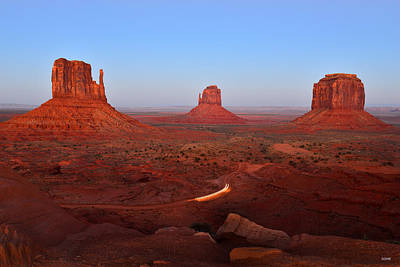 Photograph - Leaving Monument Valley by Dana Sohr