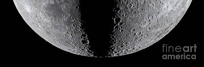 Moon Composite, First And Last Quarter Art Print by Babak Tafreshi