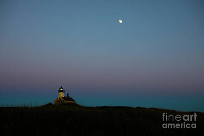 Photograph - Moon Over The North Light by Diane Diederich