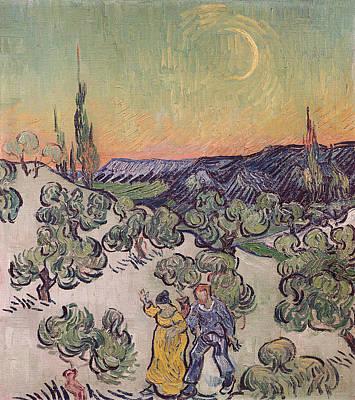 Garland Park Painting - Moonlit Landscape by Vincent Van Gogh