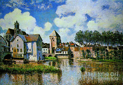 Vale Painting - Moret-sur-loing by Celestial Images