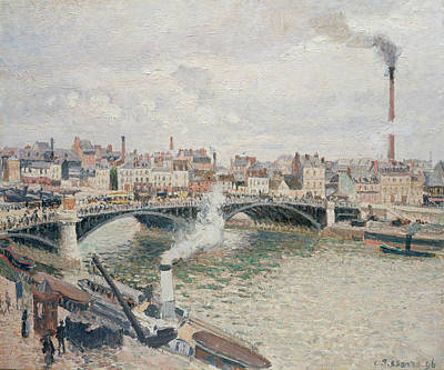 Morning, An Overcast Day, Rouen Art Print by Camille Pissarro