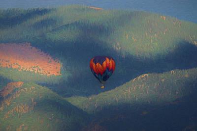 Digital Art - Morning Balloon Ride by Ernie Echols
