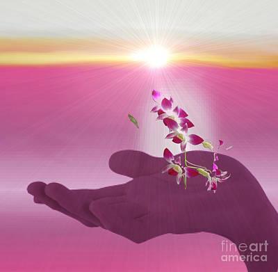 Digital Art - Morning Glory by Belinda Threeths