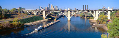 Mississippi River Photograph - Morning, Minneapolis, Minnesota by Panoramic Images