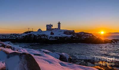 Photograph - Morning Sunrise At Cape Neddick/nubble Light. by New England Photography