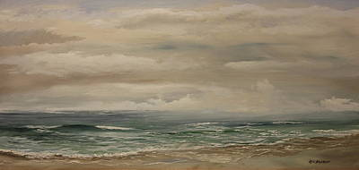 Morning Surf Art Print by Ken Ahlering
