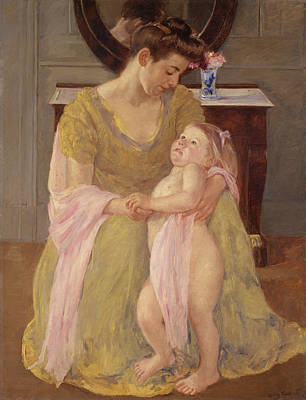 Painting - Mother And Child With A Rose Scarf by Mary Cassatt