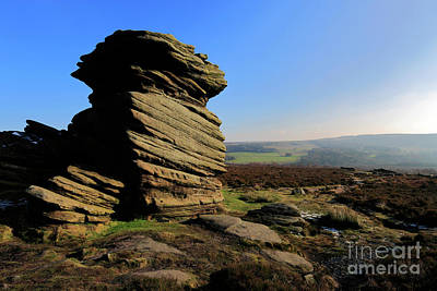 Grace Kelly - Mother Cap Gritstone rock formation, Millstone Edge by Dave Porter