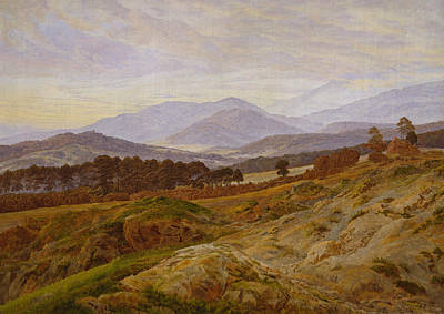 Painting - Mountain In Riesengebirge by Caspar David Friedrich