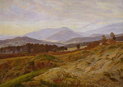 Caspar Painting - Mountain In Riesengebirge by Caspar David Friedrich