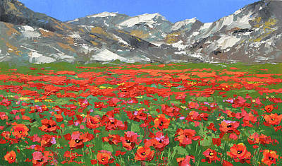 Painting - Mountain Poppies by Dmitry Spiros