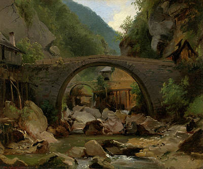 Architectural Painting - Mountain Stream In The Auvergne by Theodore Rousseau