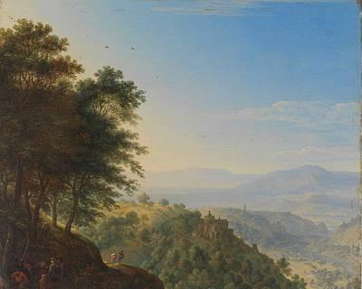 Roaring Red - Mountainous landscape near Boppard aan de Rijn, Herman Saftleven, 1660 by Herman Saftleven