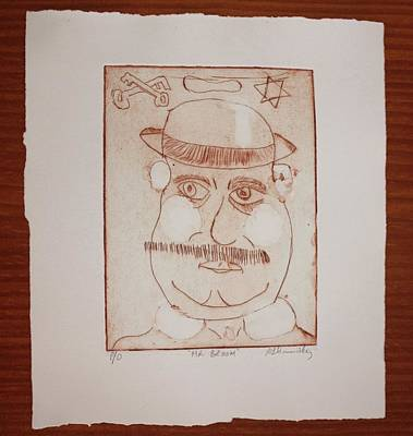 Drawing - Mr Leopold Bloom by Roger Cummiskey