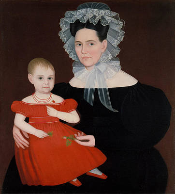 Painting - Mrs. Mayer And Daughter by Ammi Phillips