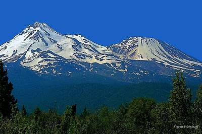 Mt. Shasta Art Print by Steve Warnstaff