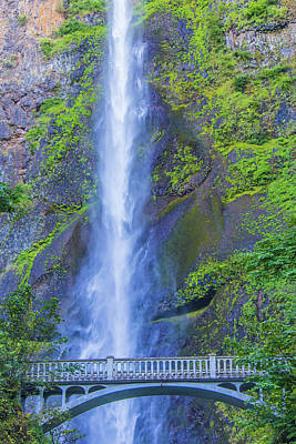 Photograph - Multnomah Falls Bridge by Jonny D