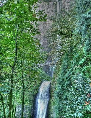 Photograph - Multnomah Falls  by David Bearden