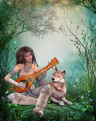 Music In The Woods Original by John Junek