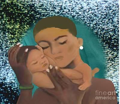 Mixed Media - My Child And I by Belinda Threeths
