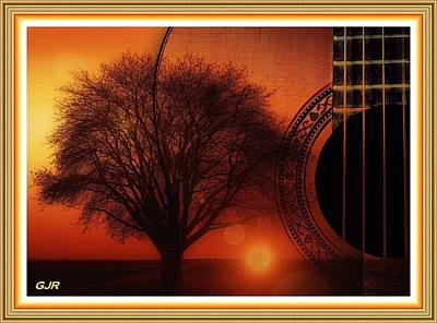 Music Royalty-Free and Rights-Managed Images - My Weeping Guitar Catus 1 No. 4 - Allegro For Guitar, One Tree Violin And Sunset Harpsichord Contin. by Gert J Rheeders