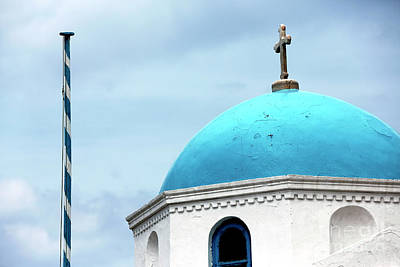 Photograph - Mykonos Blue Dome by John Rizzuto