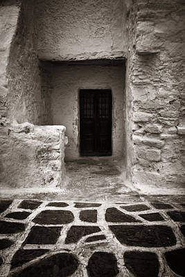 Photograph - Mykonos Building Closeup by Songquan Deng