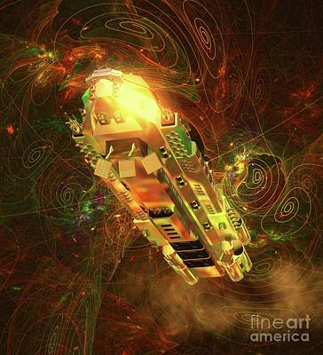 Monster Ufo Wall Art - Digital Art - Mysteries Of The Universe By Raphael Terra by Raphael Terra