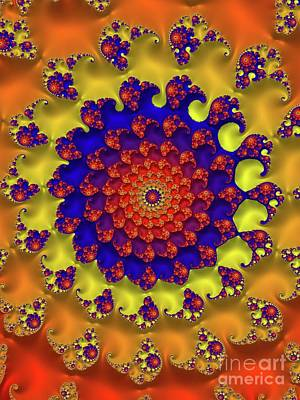 Abstract Flowers Digital Art - Mystic Universe, Fractals, Patterns and Designs by Raphael Terra