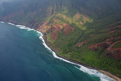 Photograph - Na Pali Coast Aerial by Steven Lapkin