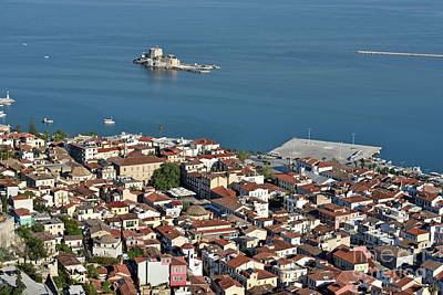 Photograph - Nafplio Town And Bourtzi Fortress by George Atsametakis