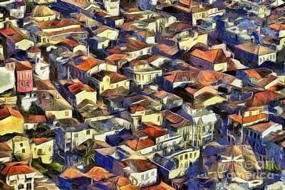 Painting - Nafplio Town by George Atsametakis