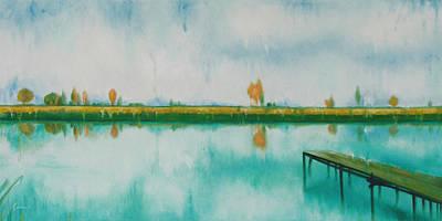 Oil Painting - Nam Sang Wai Hong Kong by Kathleen Wong