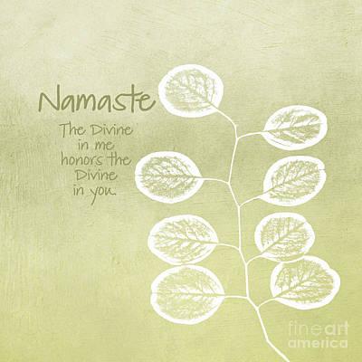 Mixed Media Rights Managed Images - Namaste Royalty-Free Image by Linda Woods