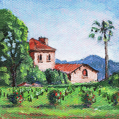 Painting - Napa Valley by Masha Batkova