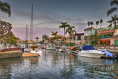 Photograph - Naples Canal Luxury Homes by David Zanzinger