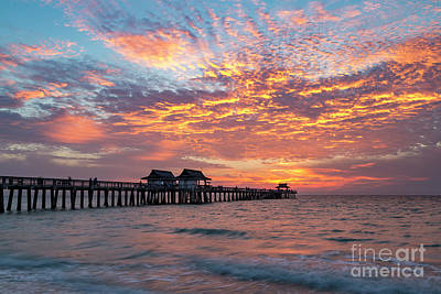 Photograph - Naples Pier At Sunset V by Brian Jannsen