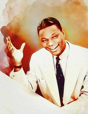 Rock And Roll Royalty-Free and Rights-Managed Images - Nat King Cole, Music Legend by John Springfield