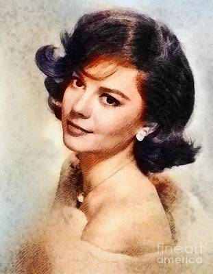 Musicians Royalty-Free and Rights-Managed Images - Natalie Wood, Vintage Hollywood Actress by John Springfield