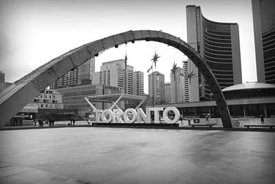 Photograph - Nathan Phillips Square by Valentino Visentini