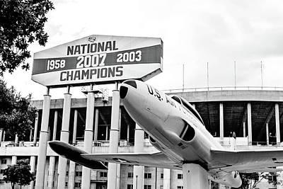 Photograph - National Champions - Bw by Scott Pellegrin
