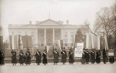 Social Movements Photograph - National Womens Party Demonstration by Everett