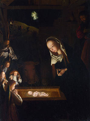 Nocturne Painting - Nativity At Night by Geertgen Tot Sint Jans