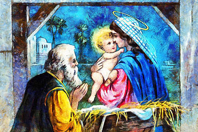 Photograph - Nativity Window by Munir Alawi