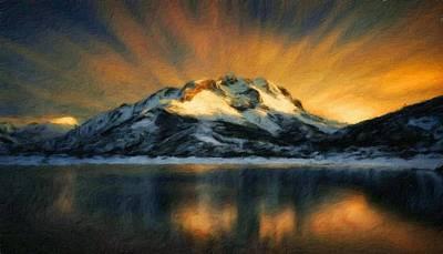 Bob Ross Painting - Nature Landscape Nature by Margaret J Rocha