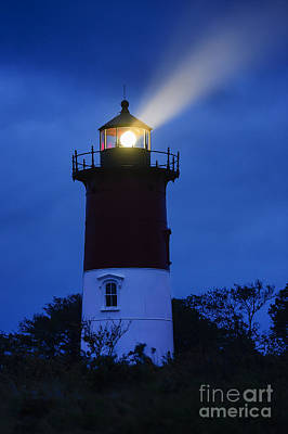 Noreaster Photograph - Nauset Lighthouse Night by John Greim