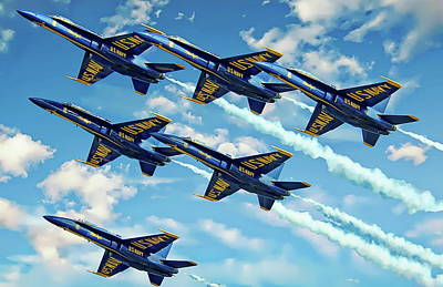 Photograph - Navy Blue Angels by Anthony Dezenzio