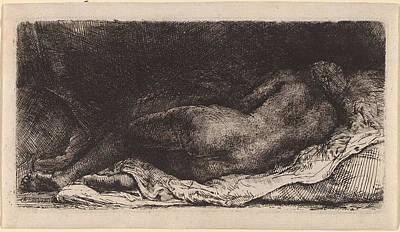 Painting - Negress Lying Down by Rembrandt van Rijn