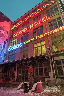 Photograph - Neon Side, Wroclaw by Juli Scalzi